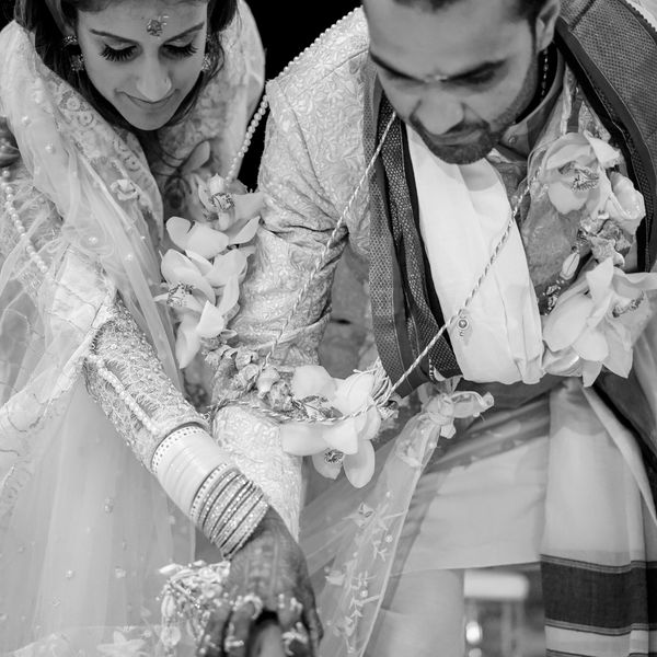couple at ceremony