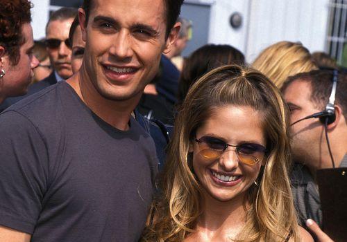 <p>Sarah Michelle Gellar and Freddie Prinze Jr.</p>