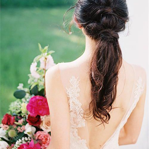 Modern Wedding Hairstyles For The Cool Contemporary Bride: 20 Wedding Ponytail Hairstyles For The Modern, Romantic