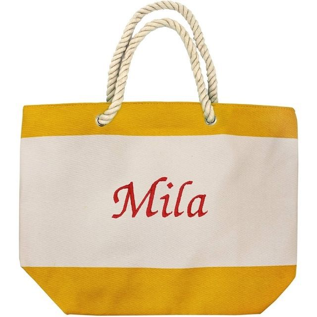 Amazon Monogrammed Beach Tote Bag with Pockets