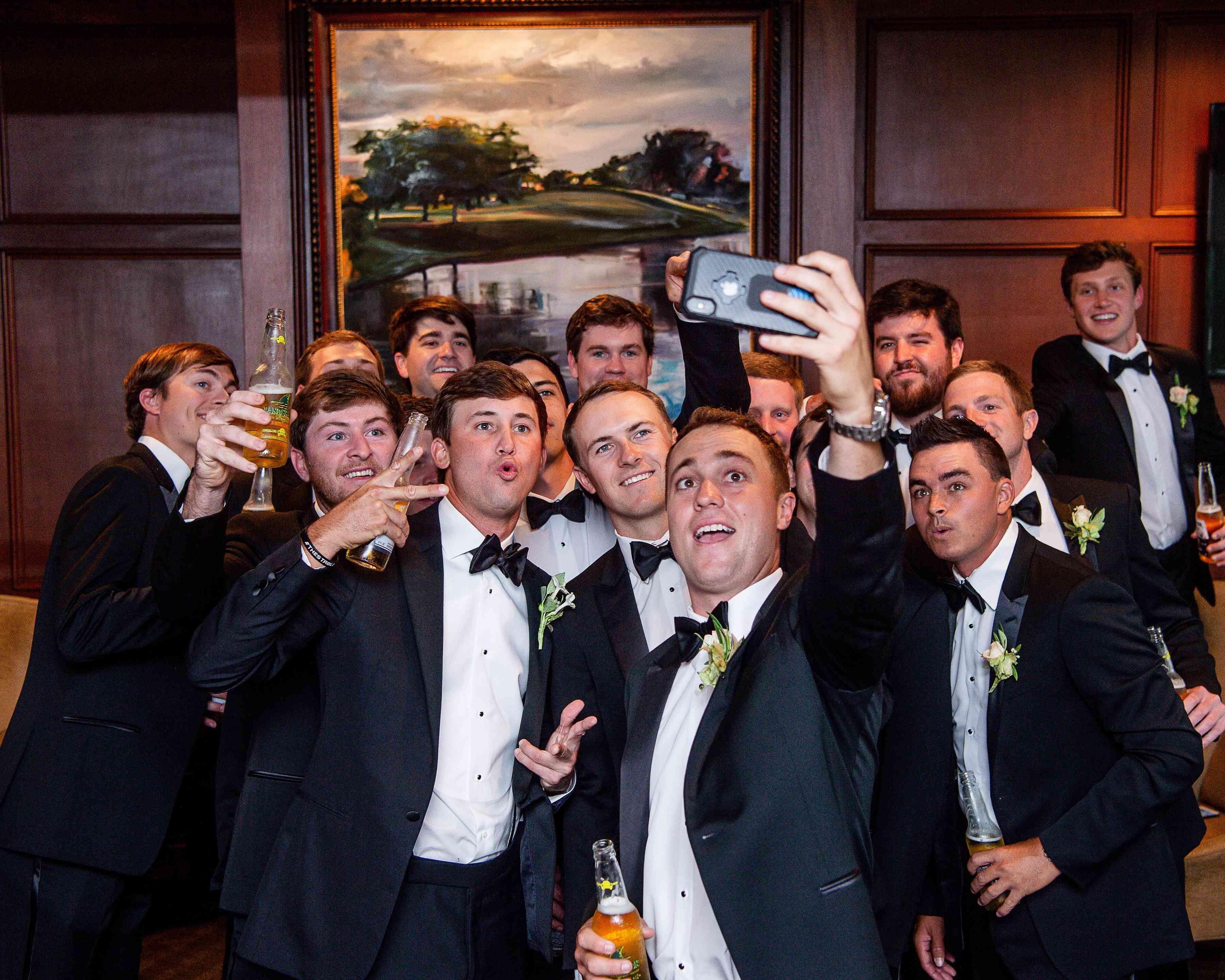 <p>groomsmen</p><br><br>