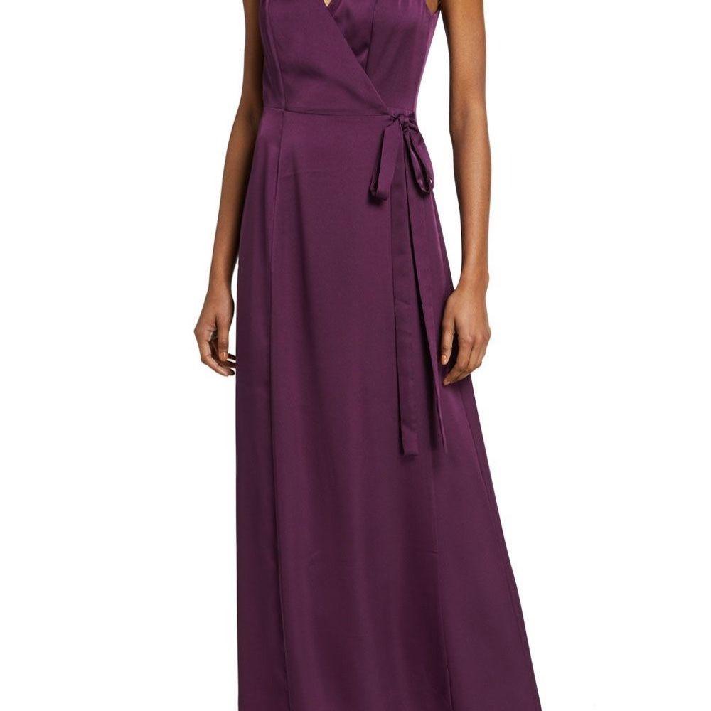 WAYF The Angelina Sleeveless Wrap Gown