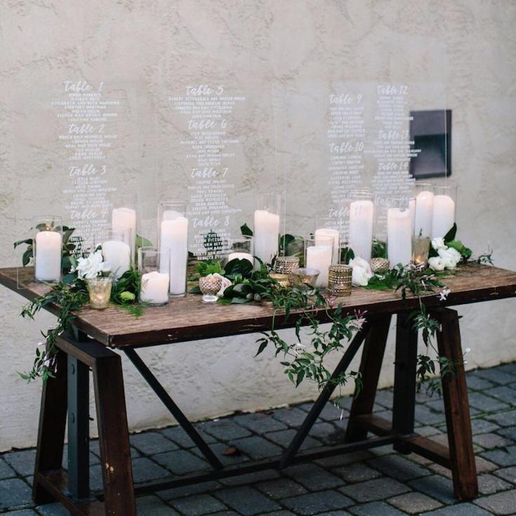 Acrylic Table Names 10 Names 20 Names wedding table Wall Signs Personalised