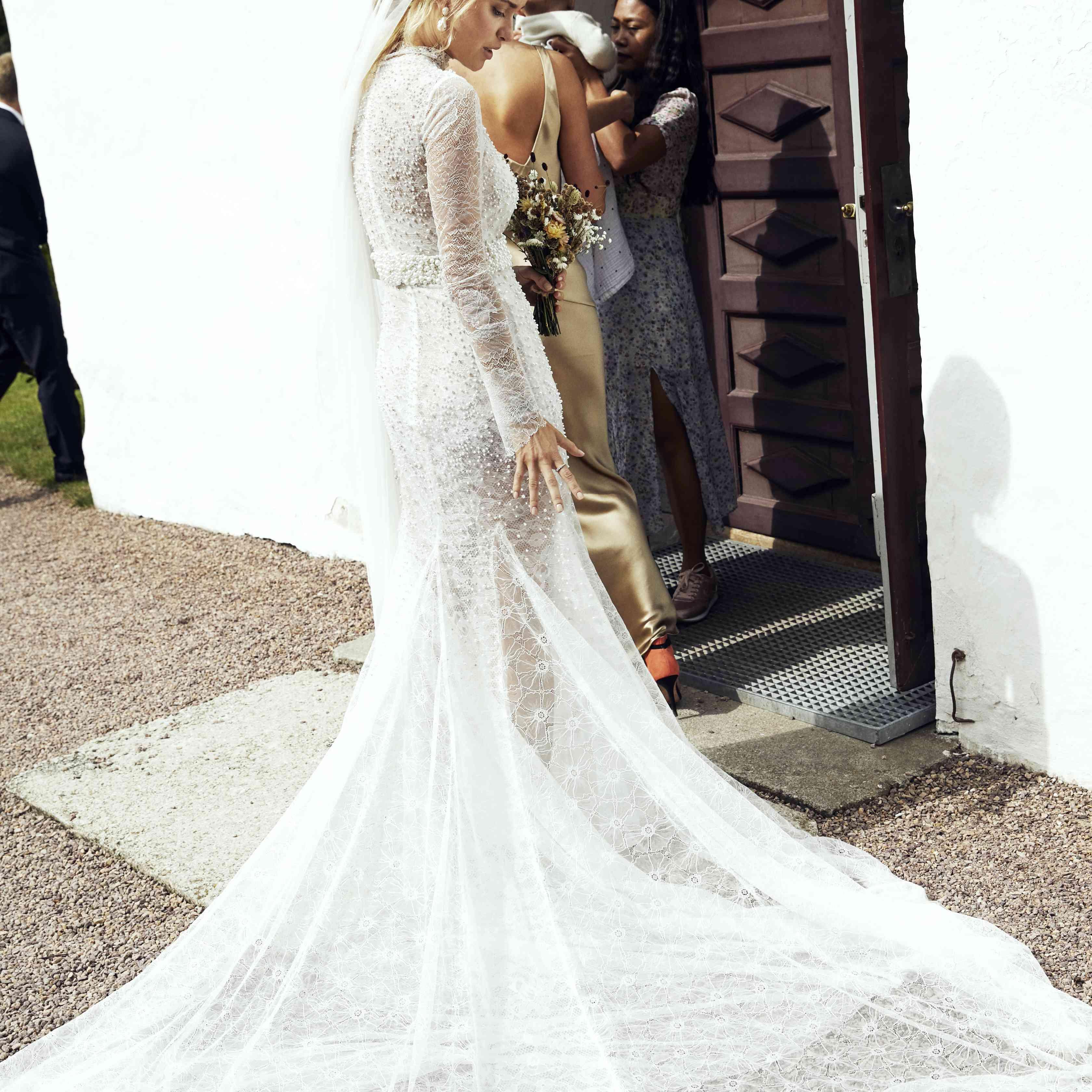 Why Do Brides Wear Garters On Their Wedding Day: Pernille Teisbaek's Stylish Wedding Off The Coast Of Denmark