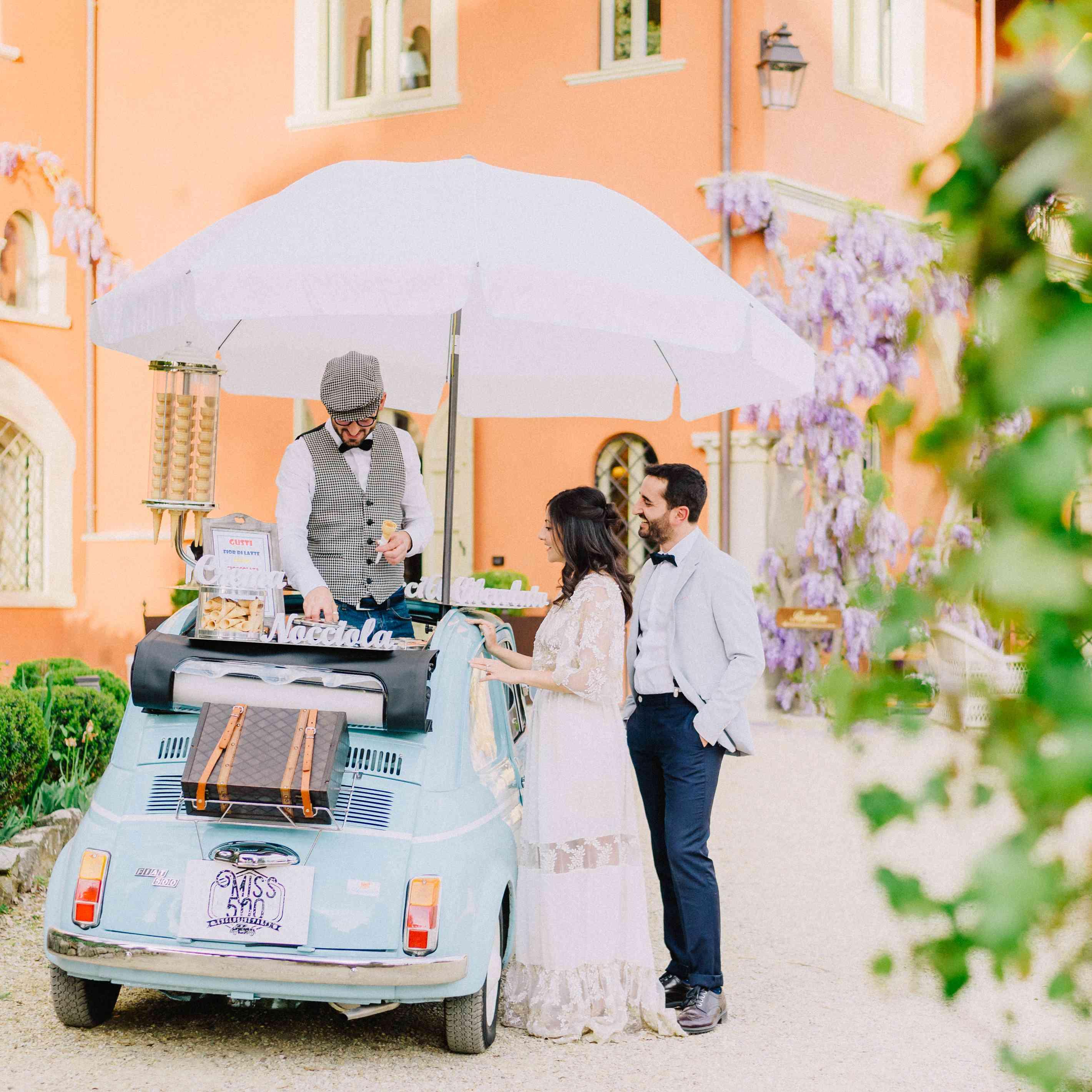 gelato wedding cart