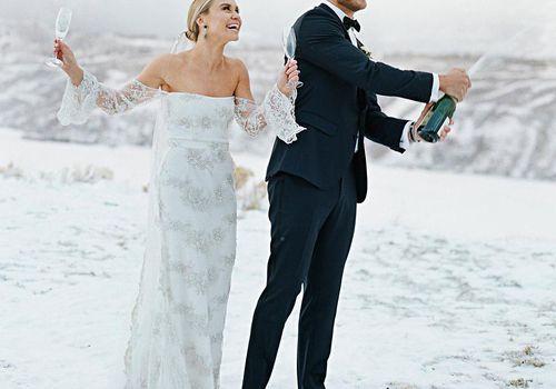<p>Becca Tobin's Champagne Toast</p>