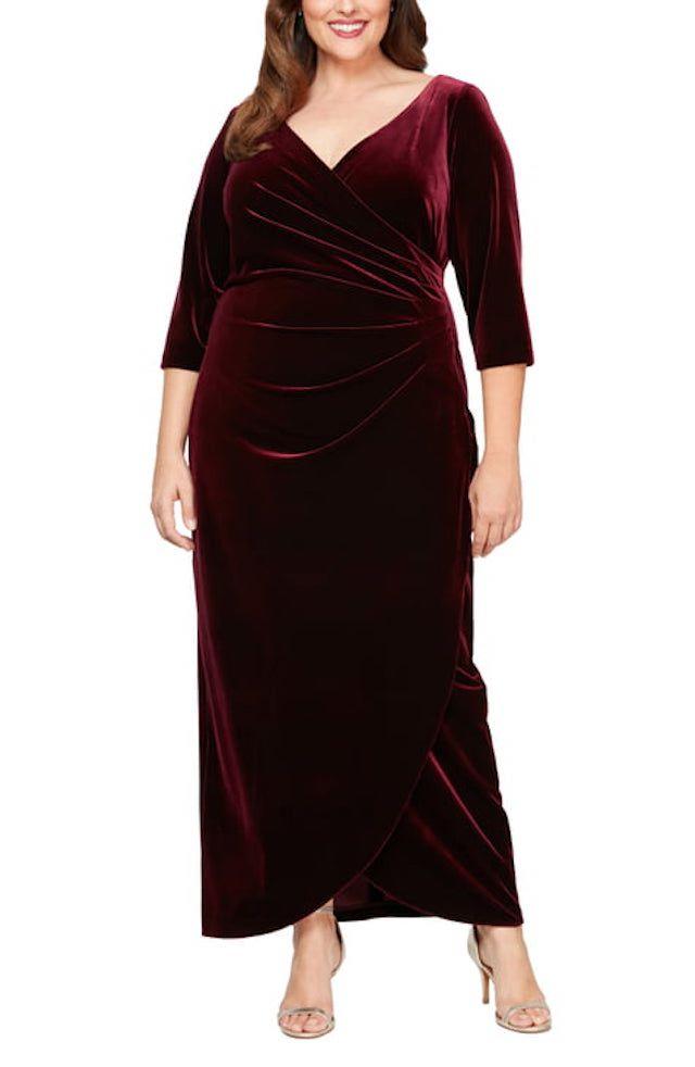 Alex Evenings Velvet Dress, $179