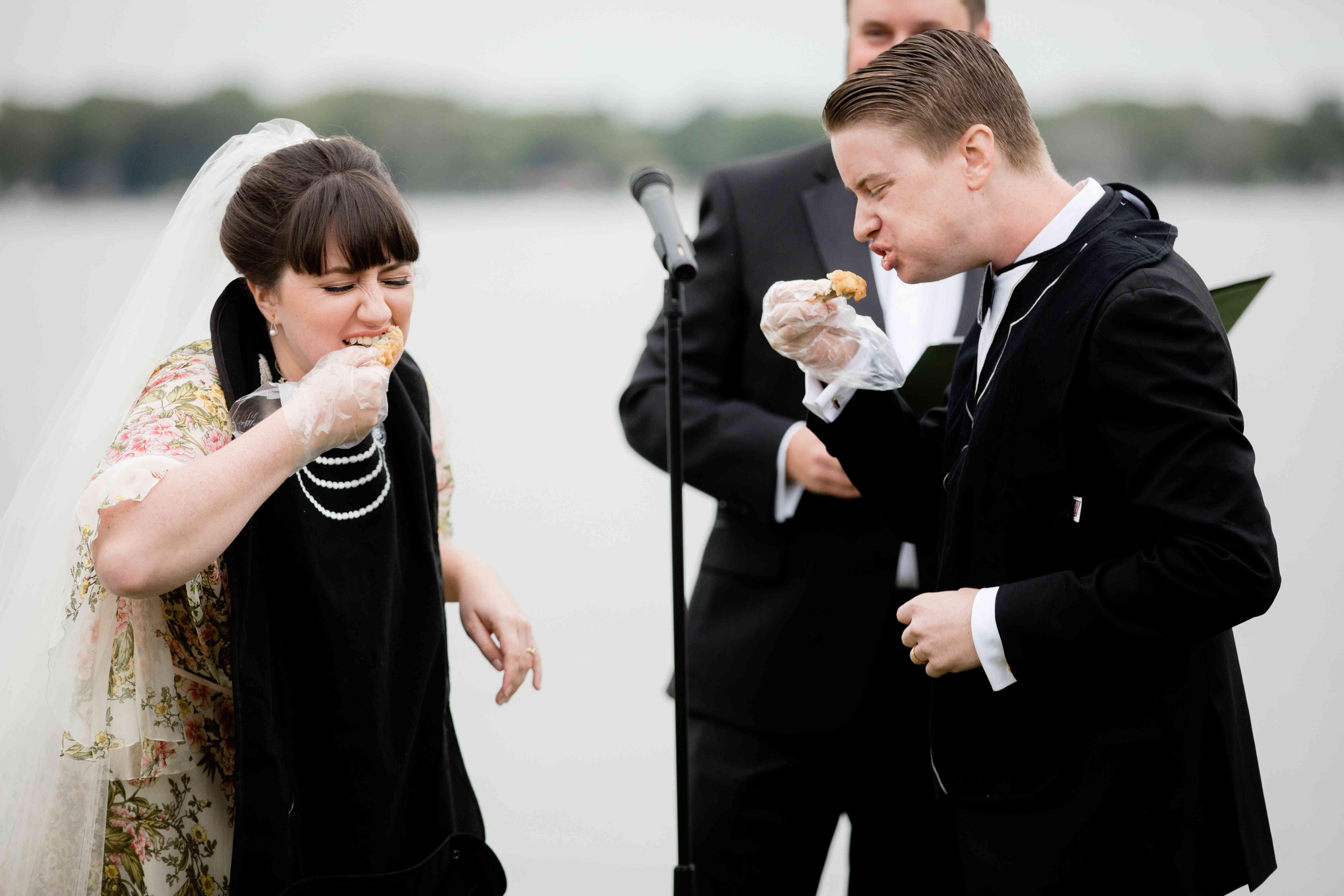 wedding ceremony hot wings