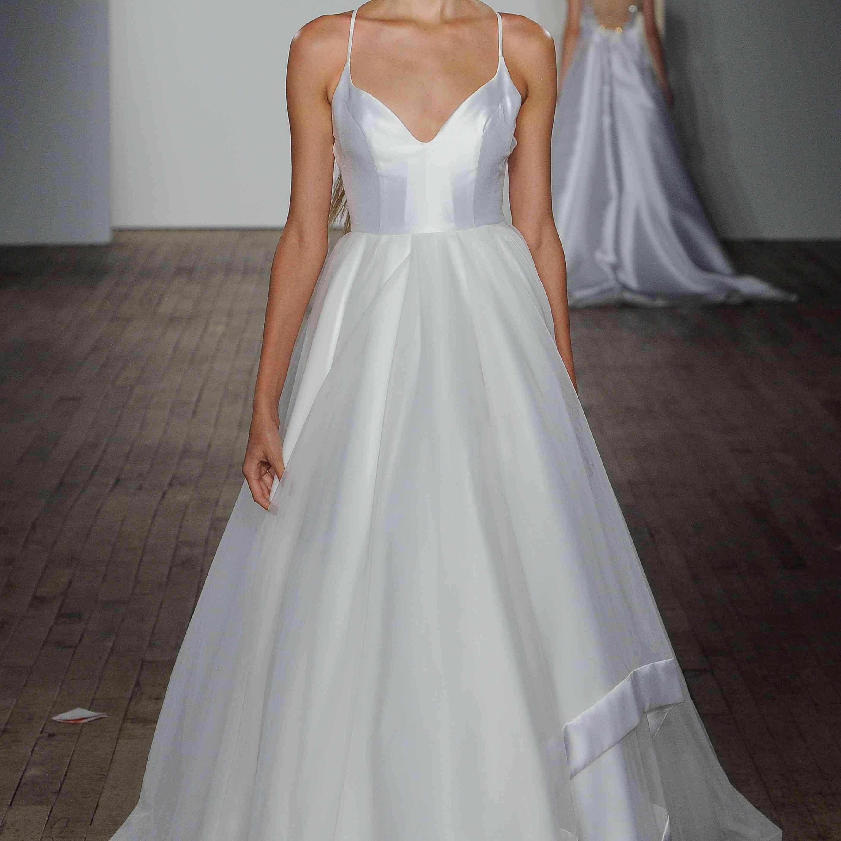 Drai silk low sweetheart wedding dress