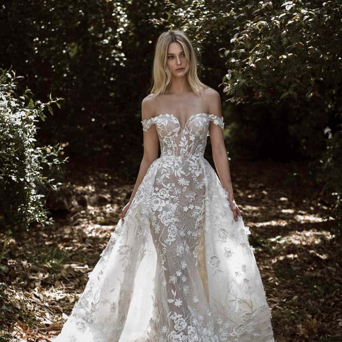 Alegra off-the-shoulder wedding dress