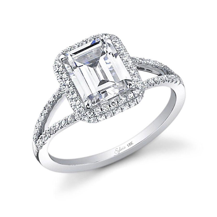 Sylvie Emerald-Cut Diamond Engagement Ring