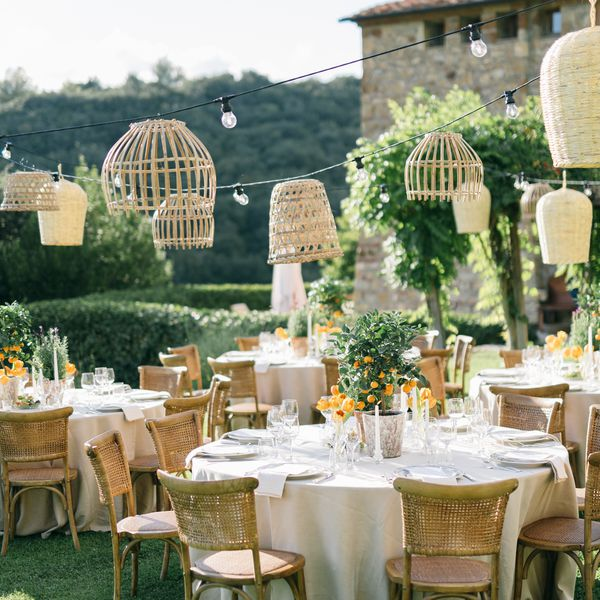 garden wedding reception in Italy