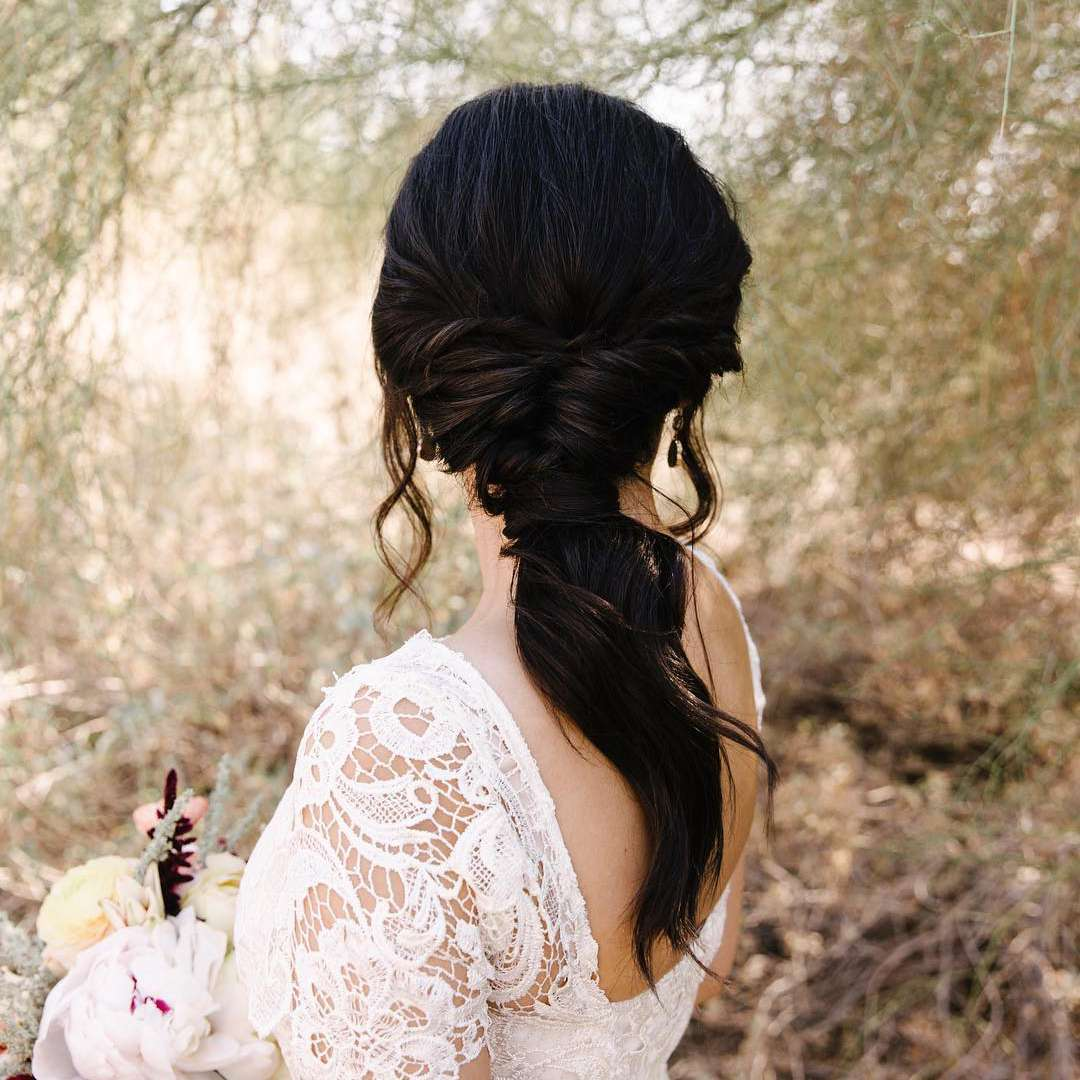 Boho Bridal Hairstyles For Carefree Bride: 20 Wedding Ponytail Hairstyles For The Modern, Romantic