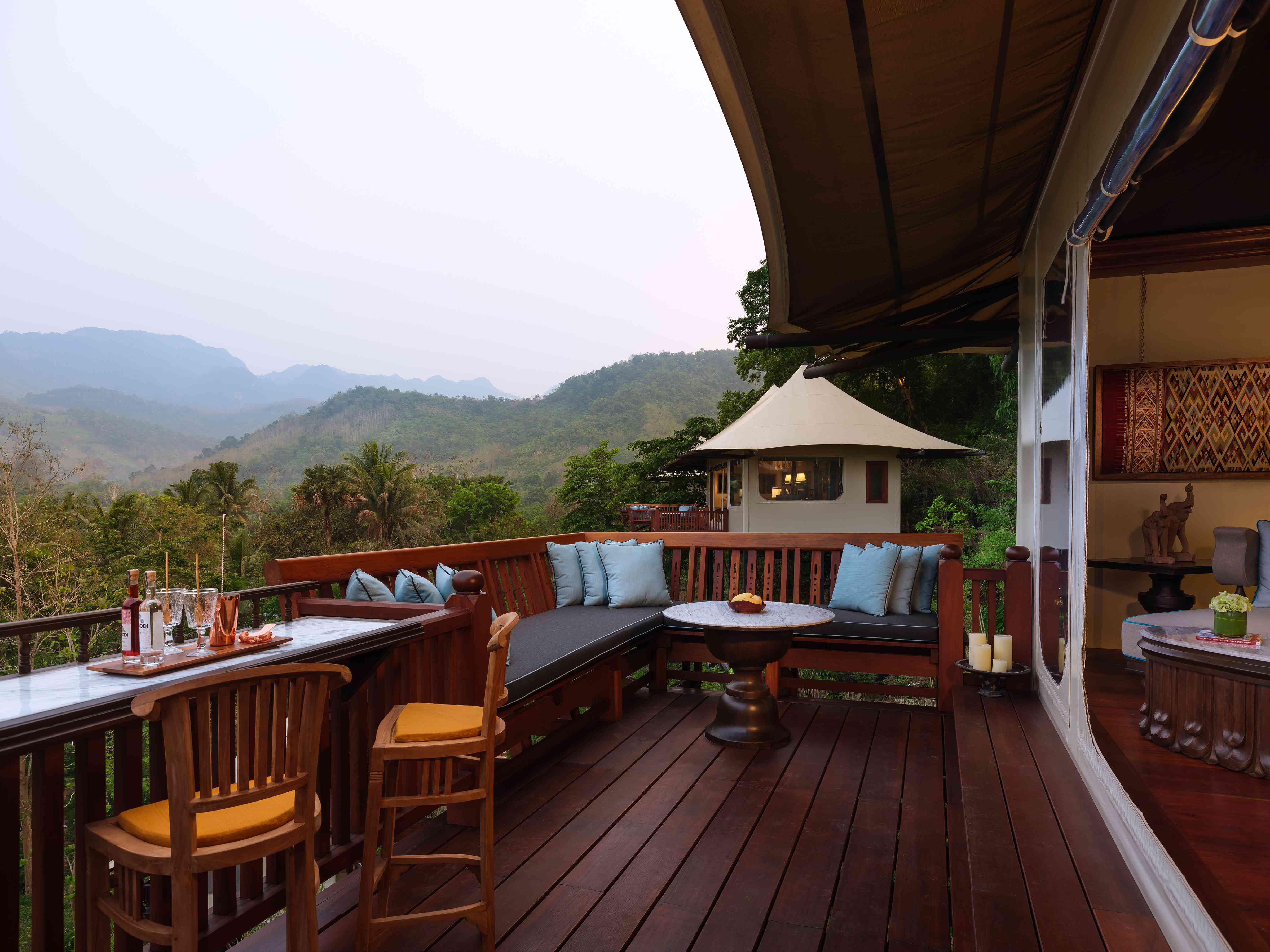 Deck at Rosewood Luang Prabang