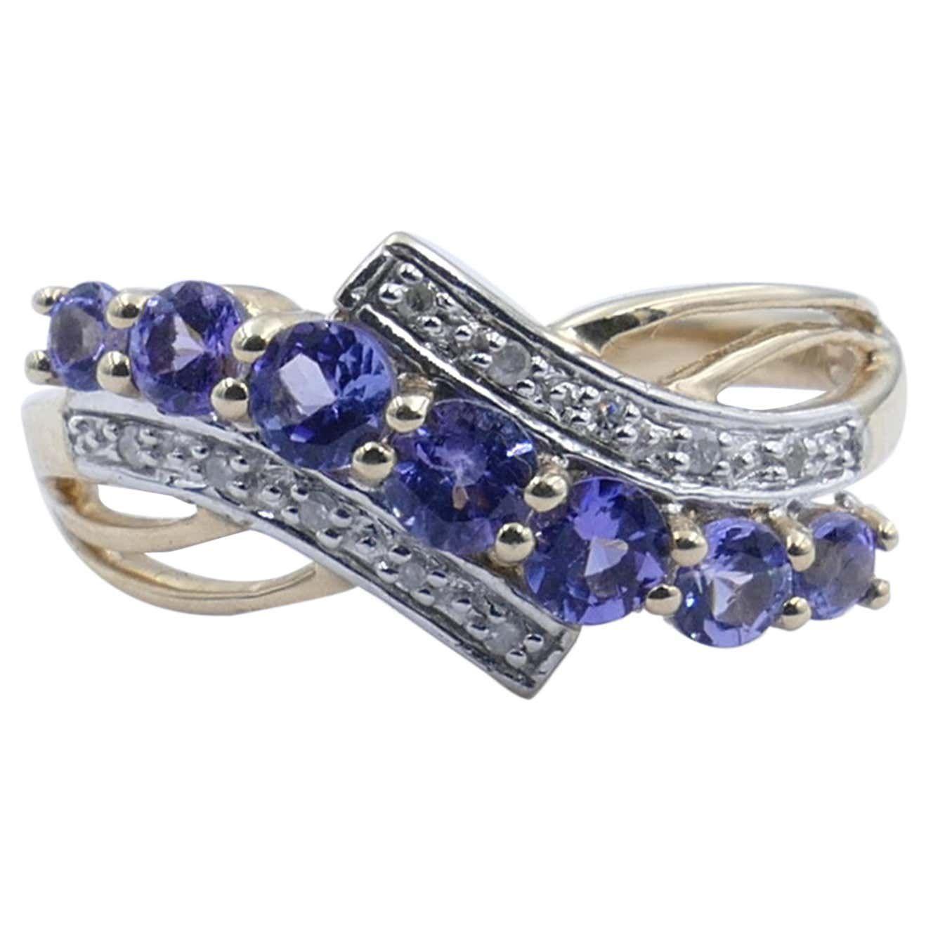 1stDibs White Gold Tanzanite and Diamond Ring