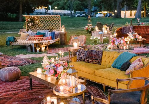 bohemian outdoor furniture and rugs