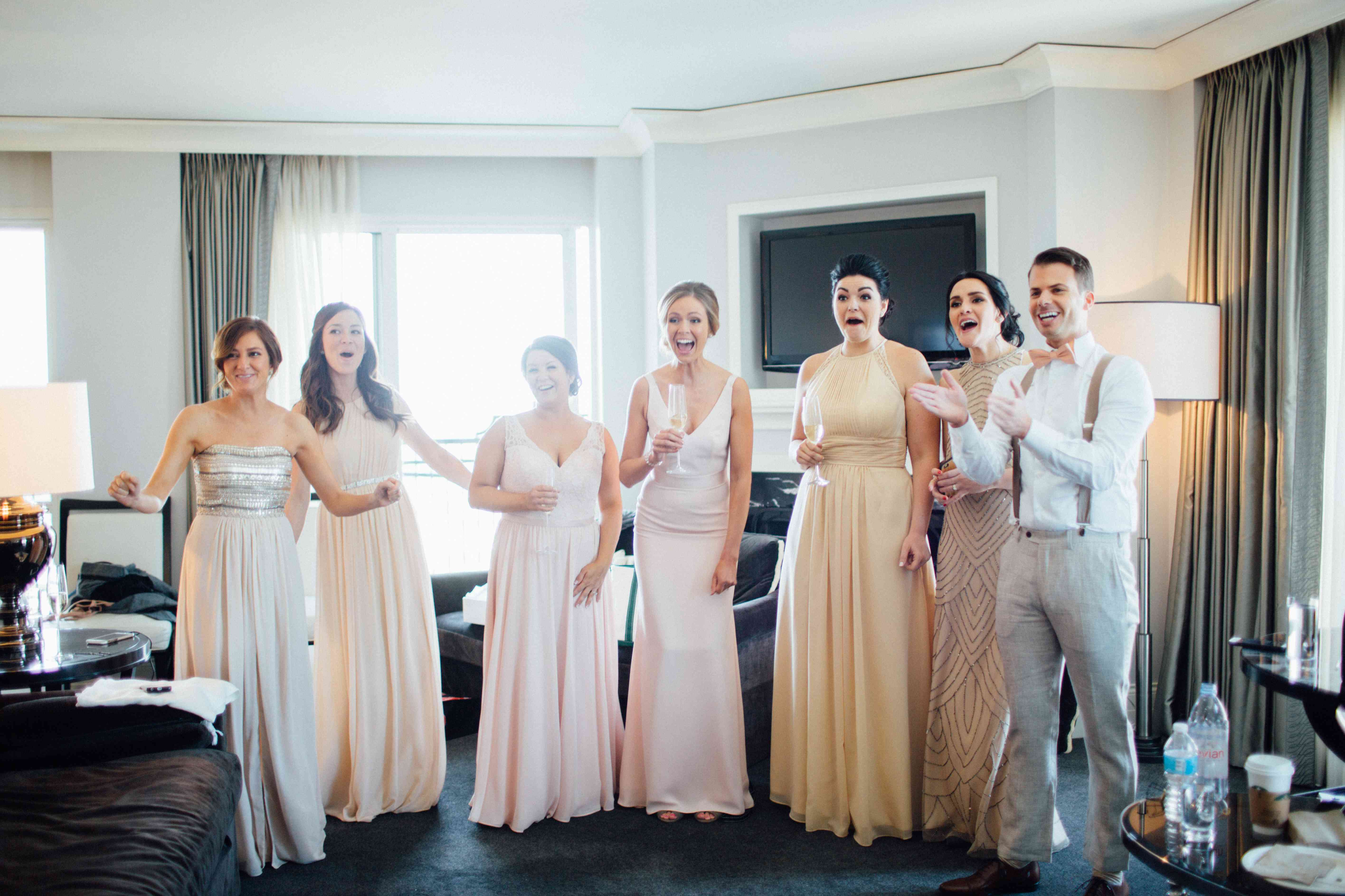 <p>Bridal Party Getting Ready</p><br><br>