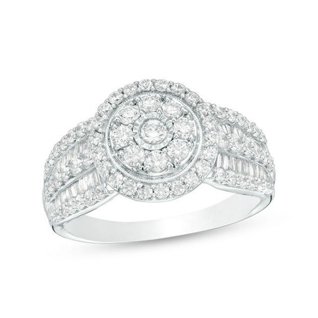 Zales Wide Band Engagement Ring