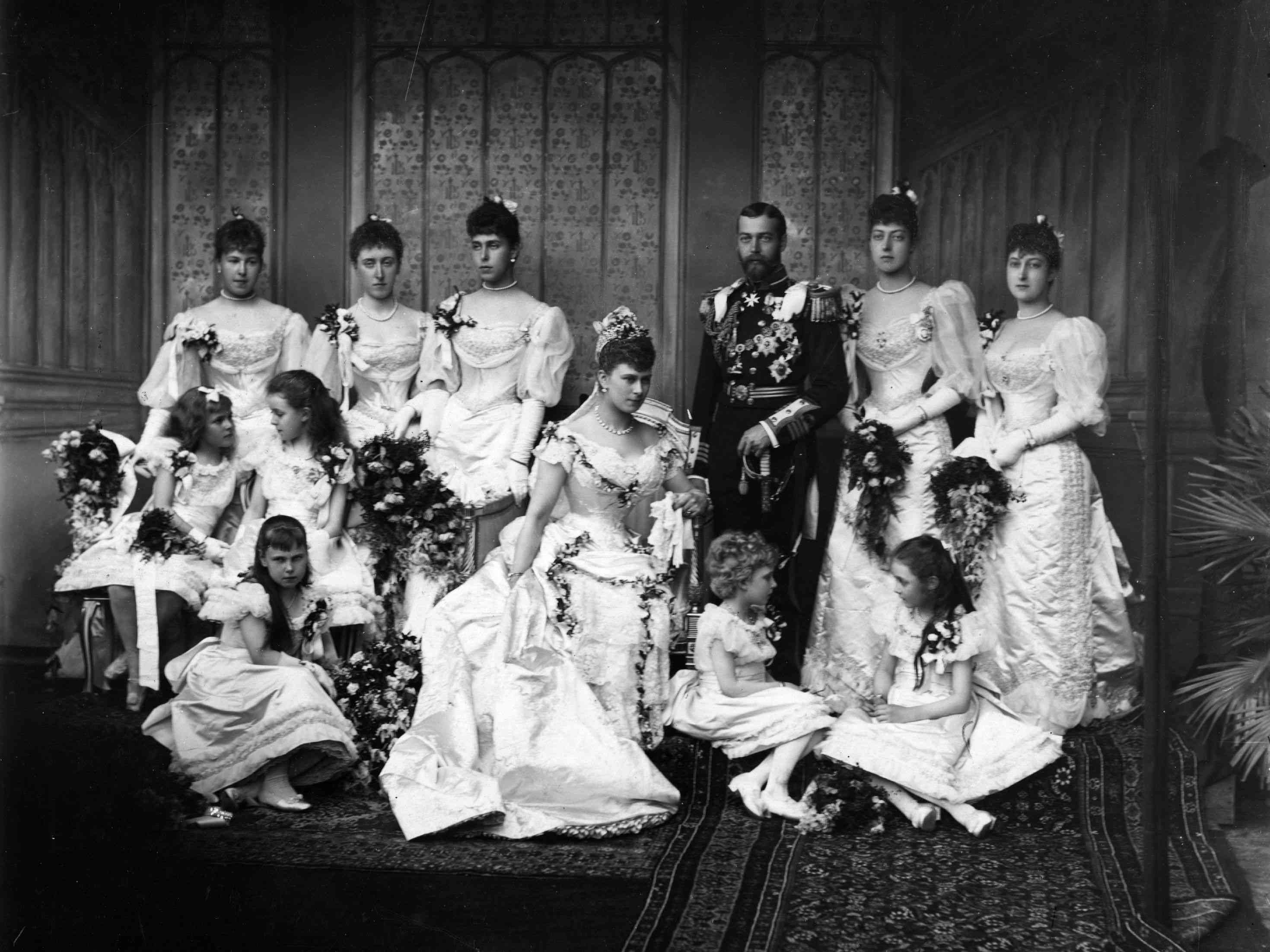 The wedding at Buckingham Palace of the Duke of York, later King George V and Princess Mary of Teck
