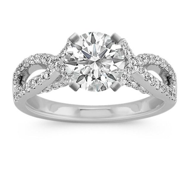 Shane Co. Infinity Cathedral Diamond Engagement Ring