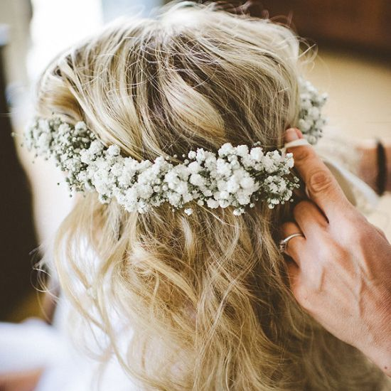 15 Ethereal Wedding Hairstyles Featuring Baby S Breath