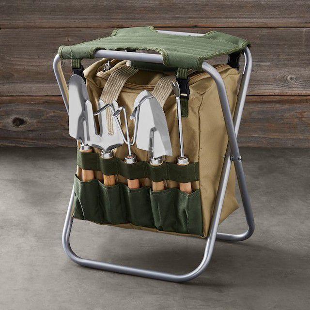 Williams Sonoma Gardening Seat & Tool Kit