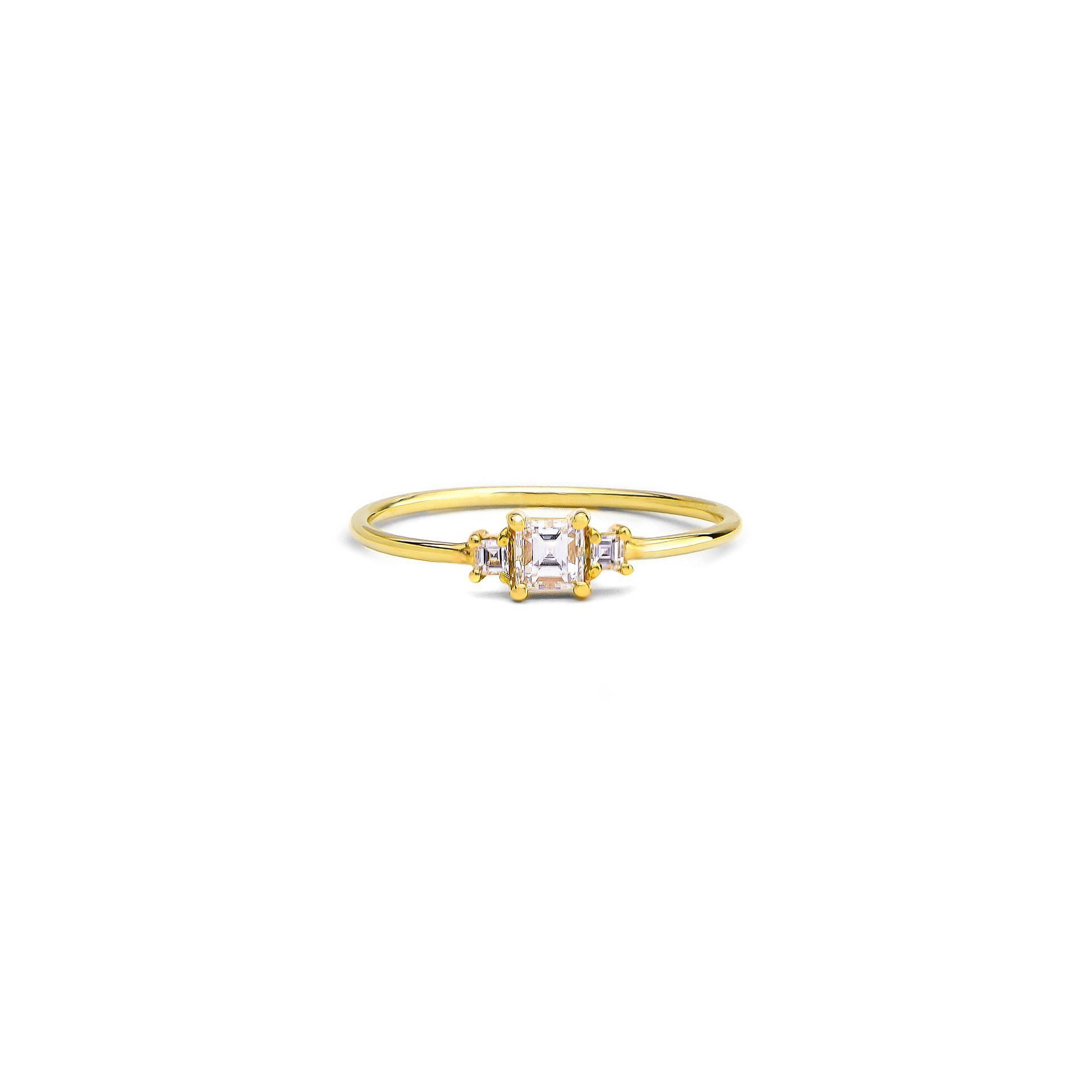 Grace Lee Triple Carrera Diamond Ring