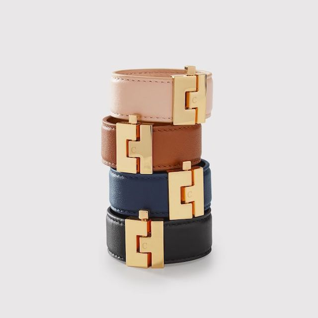 Gold Clasp Leather Bracelet