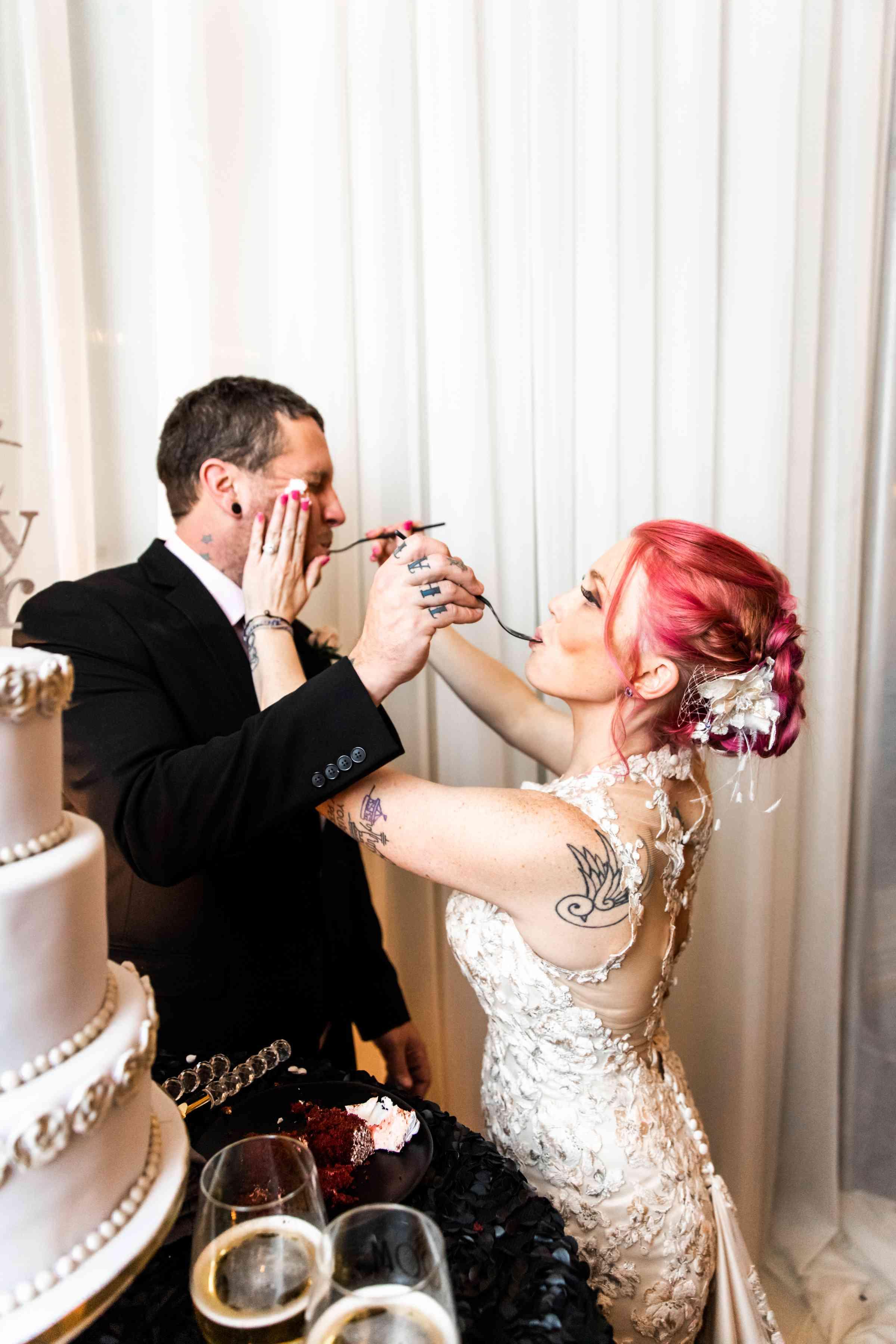 wish upon a wedding cake cutting
