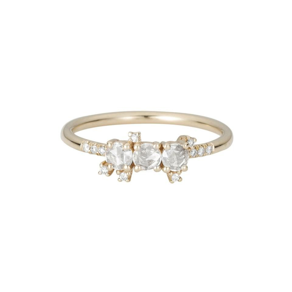 Small engagement cluster ring