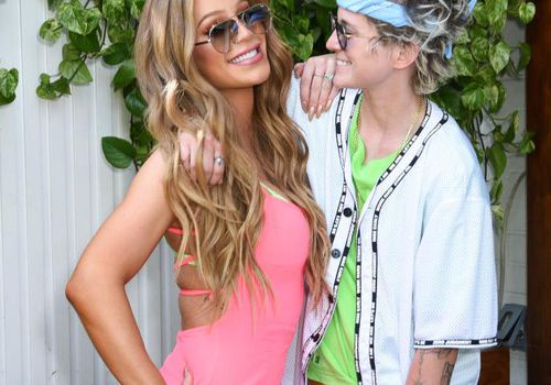 Gigi Gorgeous and Nats Getty attend DIVE INTO PRIDE.