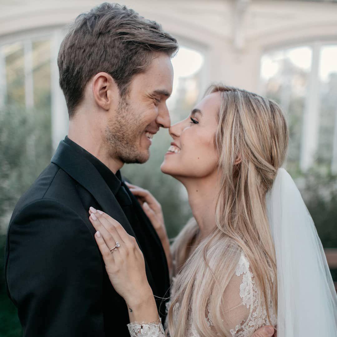 YouTuber PewDiePie Married Girlfriend Marzia Bisognin In