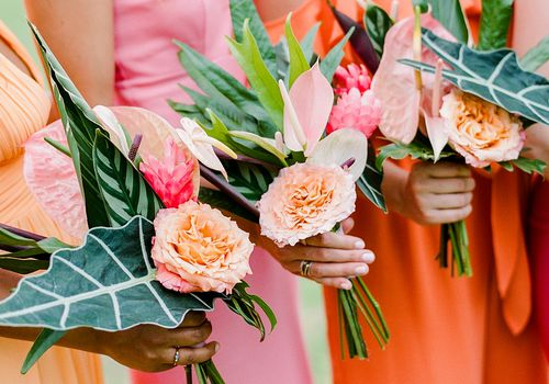 tropical bouquets