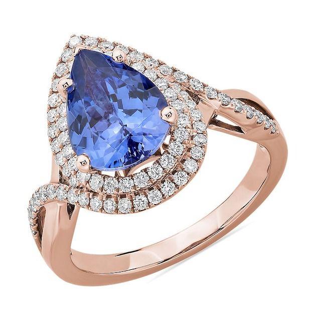 Blue Nile Pear Cut Tanzanite Ring