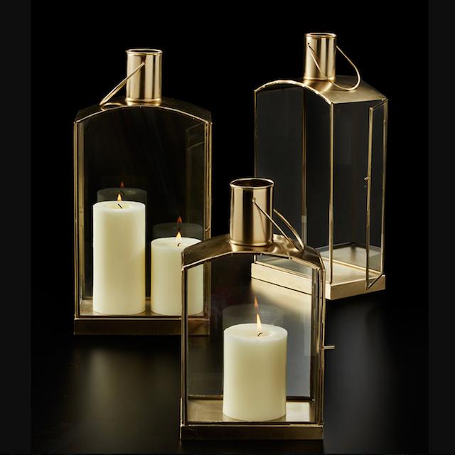 Gold Oblong Lanterns