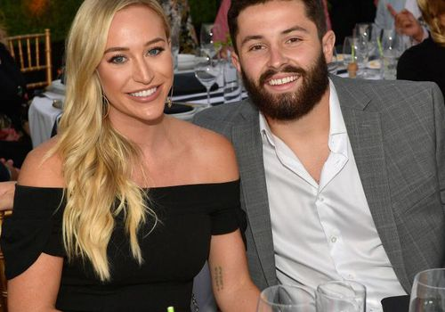 Emily Wilkinson and honoree Baker Mayfield attend the 33rd Annual Cedars-Sinai Sports Spectacular.