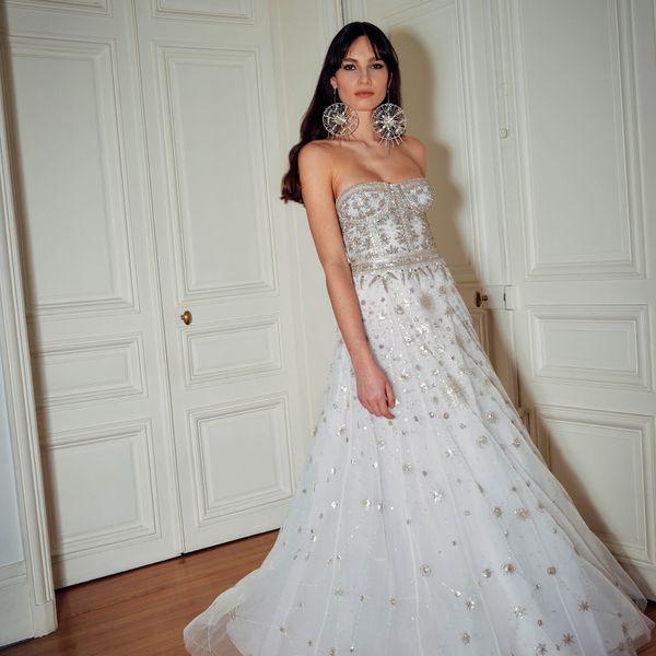 starry wedding dress