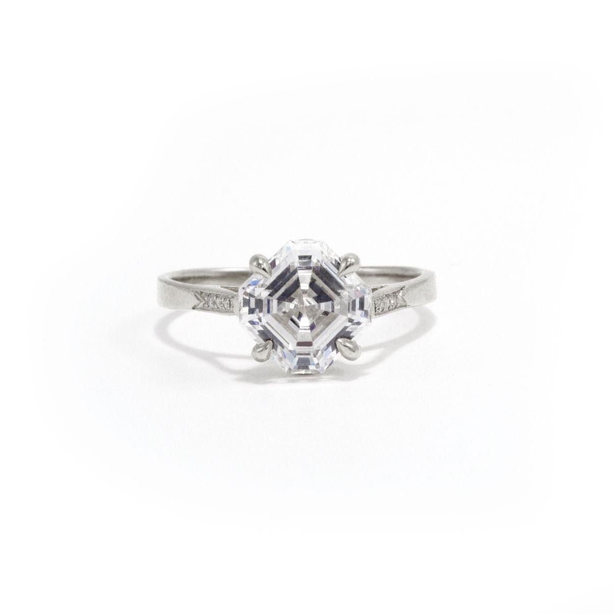 Ashley Zhang Asscher Cut Engagement Ring
