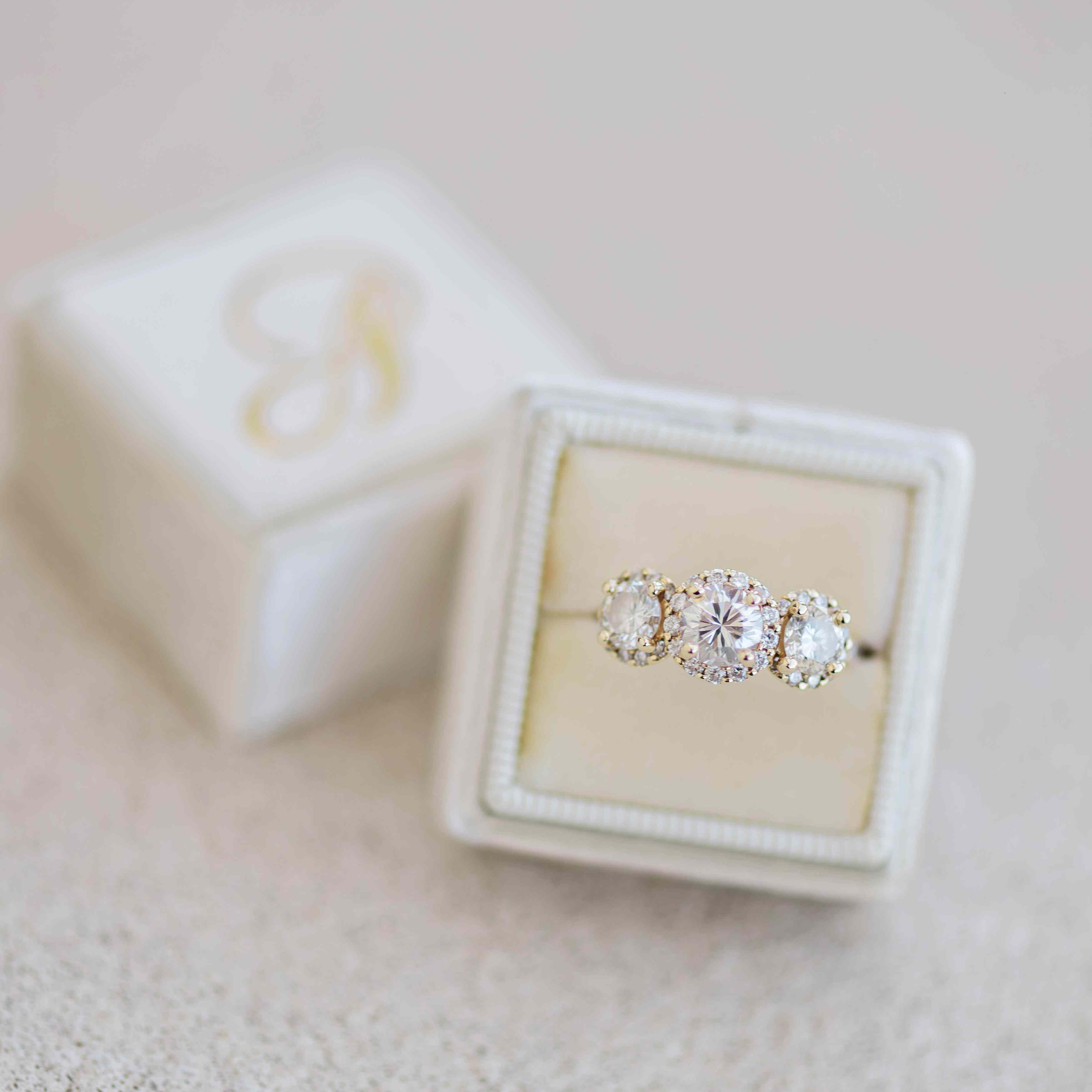 Three-Stone Engagement Rings That Will Make You Swoon