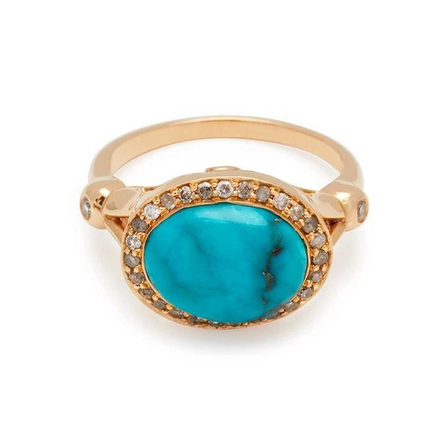 Anna Sheffield Turquoise Luna Ring II