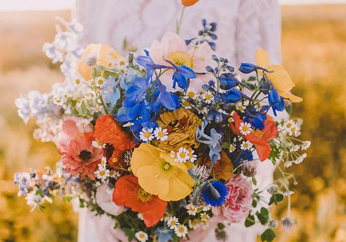 Colorful wildflower bouquet