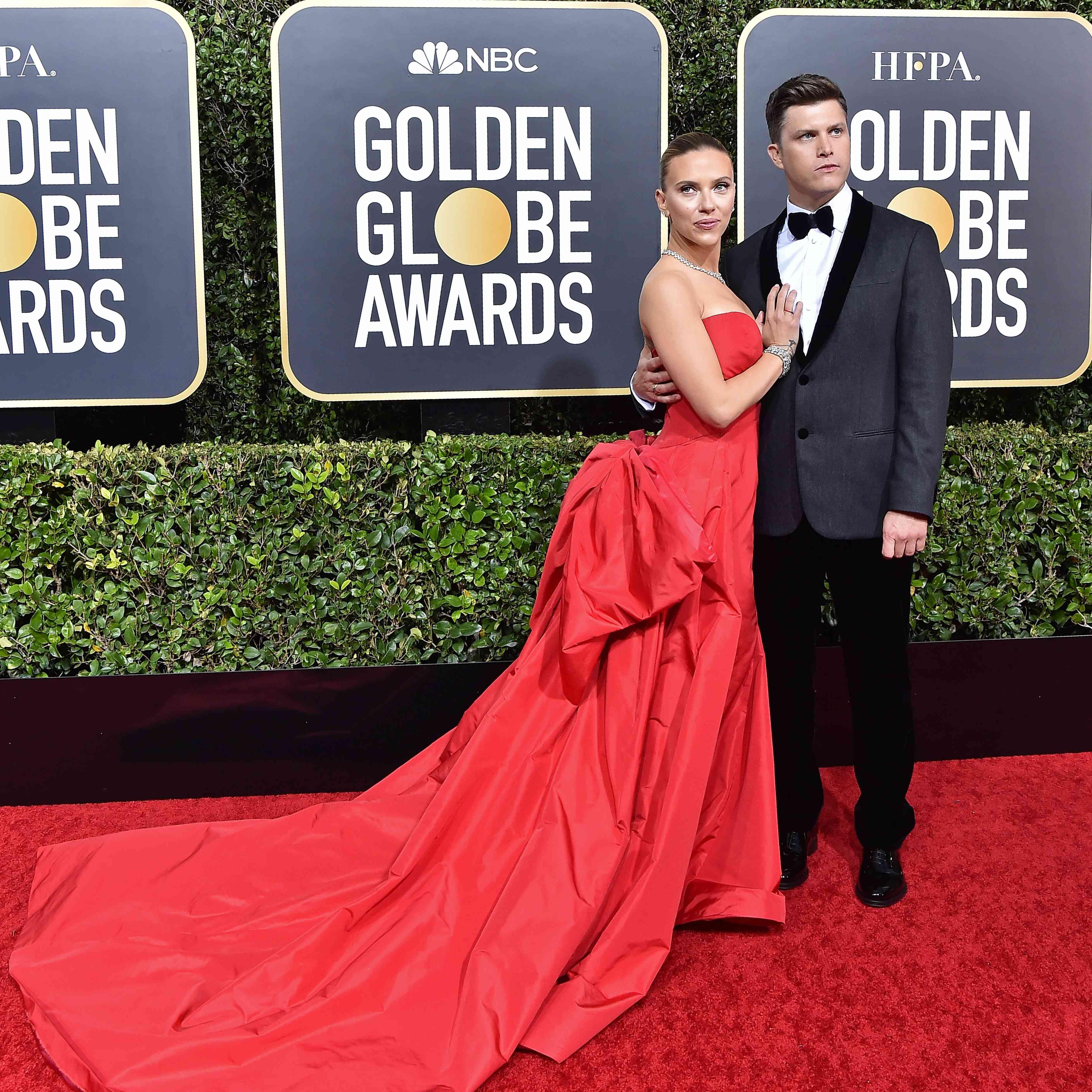 Colin and Scarlett Johansson