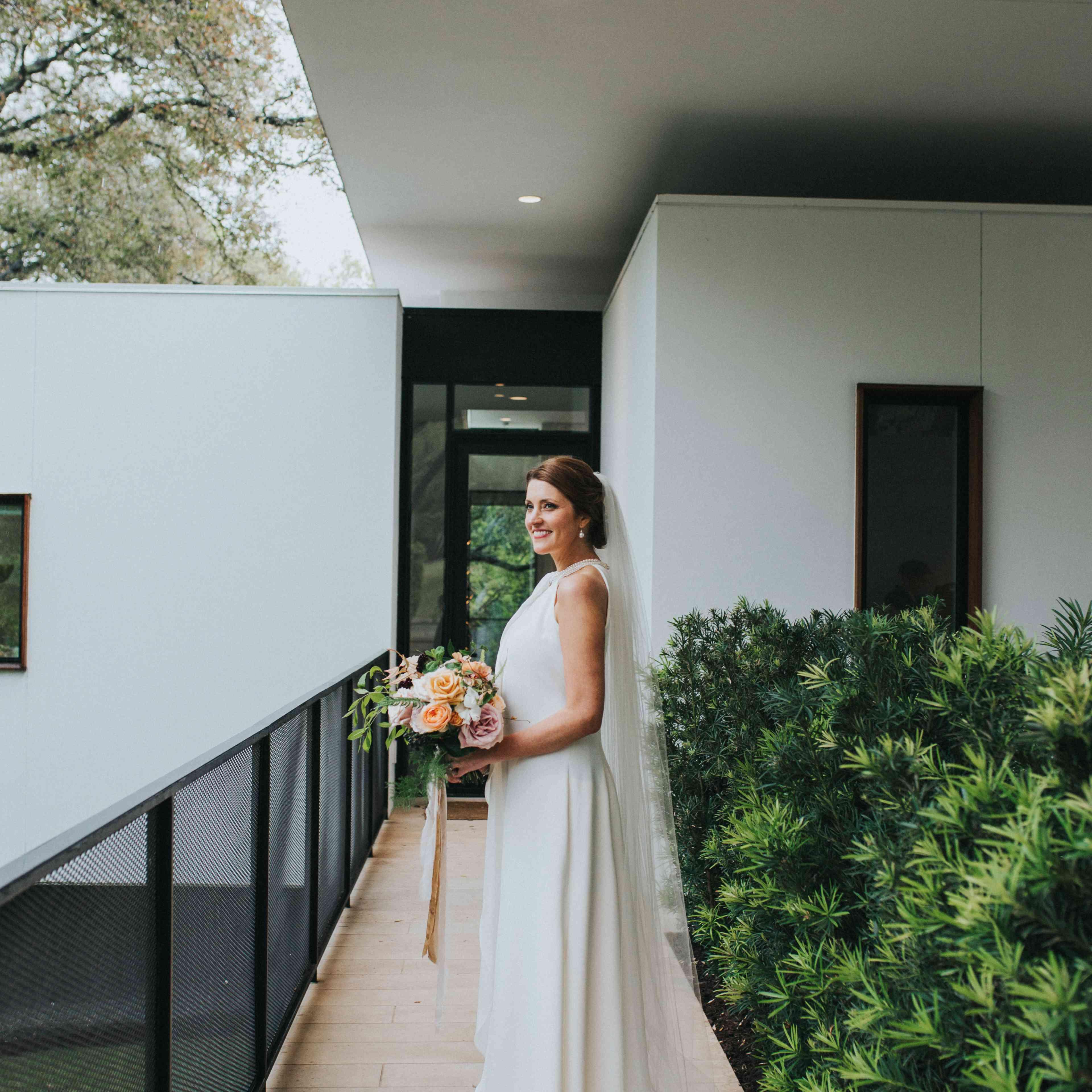Bride in Custom Gown