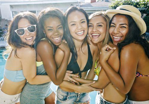 girls at pool