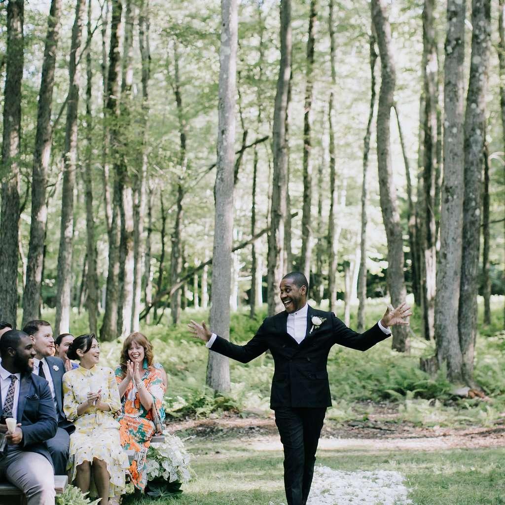 <p>groom walking down aisle</p><br><br>