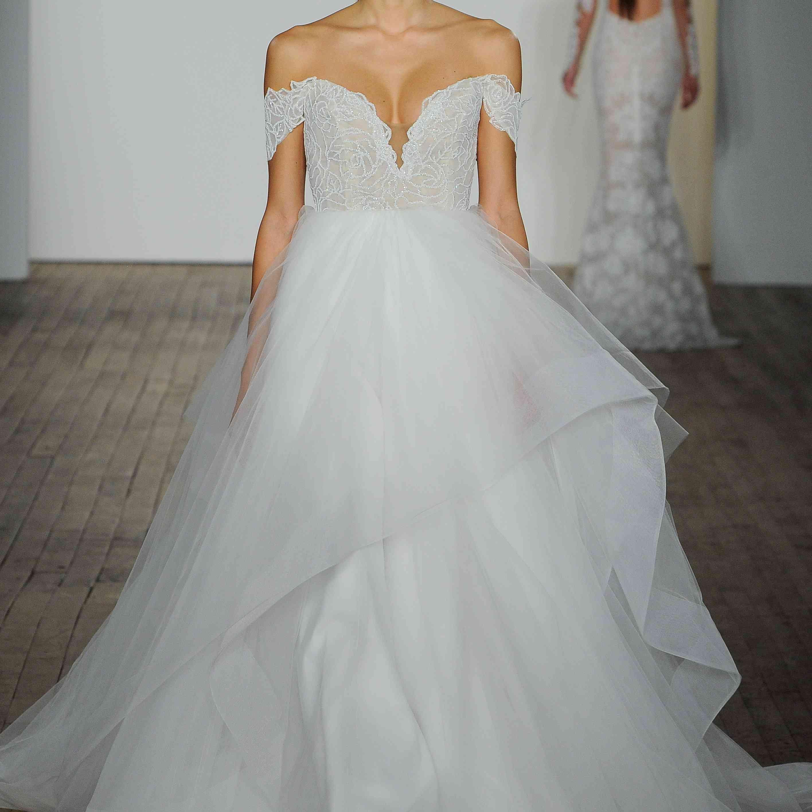 Charm off-the-shoulder wedding dress