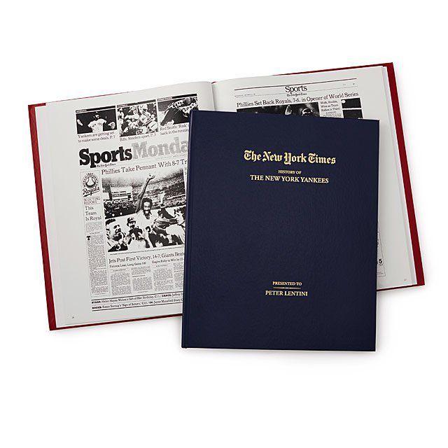 New York Times Custom Baseball Books