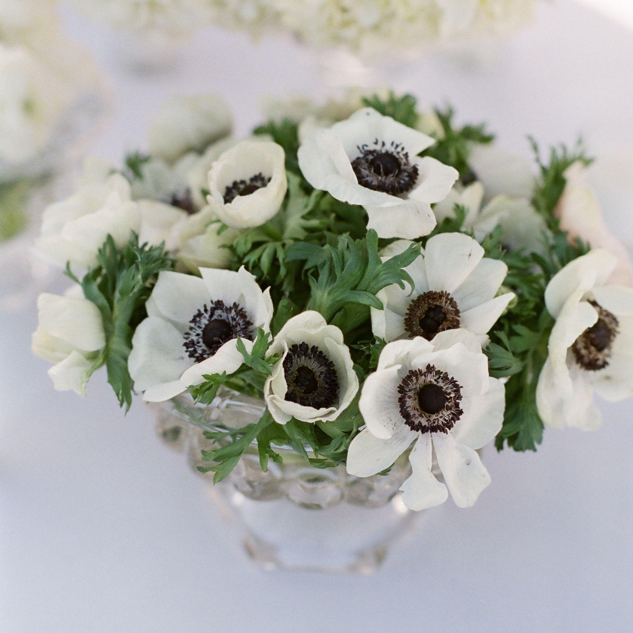Faux Flower Wedding Bouquet Silk Flower Purple Anemones Roses