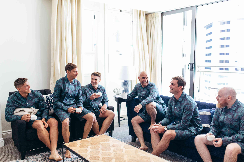 Groomsmen in Matching Pajamas