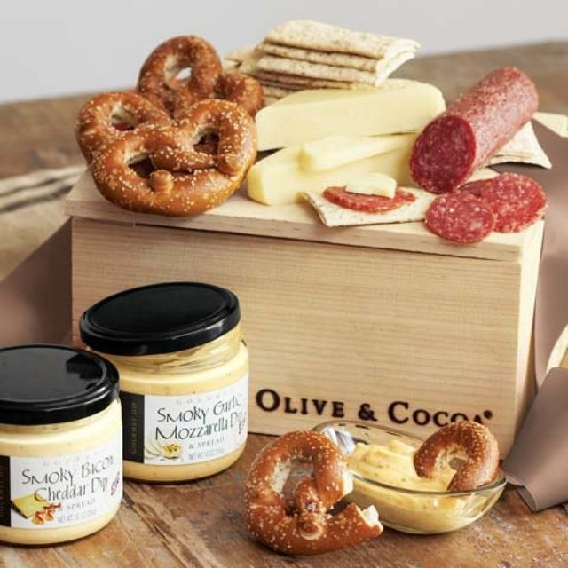 Olive & Cocoa Savory Charcuterie and Dips Basket